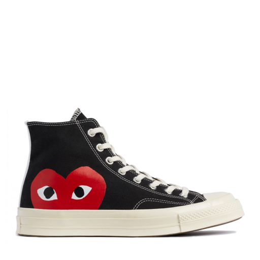 COMME DES GARCONS - PLAY x CONVERSE CHUCK TAYLOR ALL STAR '70 HIGH (BLACK)