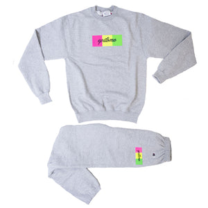 "EPITOME x CHAMPION- ""1995"" RETRO CHAMPION CREWNECK  SET (GREY/ MUTLI)"