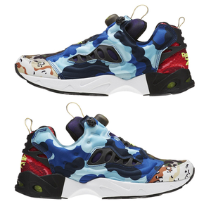 REEBOK - INSTAPUMP FURY ROAD BLACK/SOLAR YELLOW (MULTI CAMO)