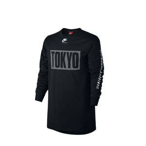 NIKE - INTERNATIONAL TOKYO LONG SLEEVE TOP (BLACK)