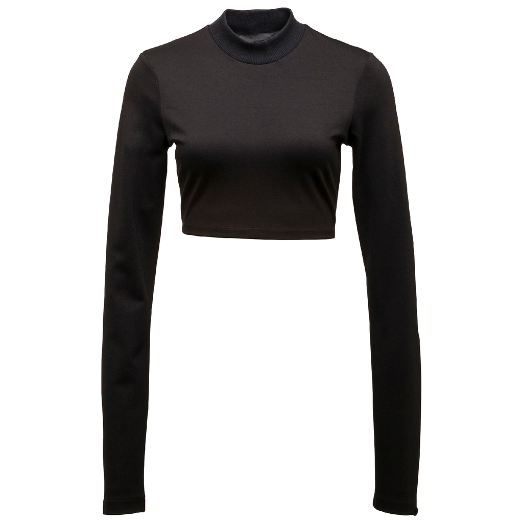 PUMA x FENTY by RIHANNA BLACK LS CROPPED MOCK NECK TOP