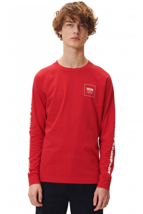 WOOD WOOD  HAN LONG SLEEVE - RED