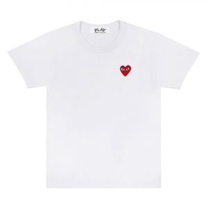 COMME DES GARCONS - RED PLAY T- SHIRT (WHITE) MENS