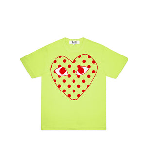 Comme des Garcons PLAY Pastelle Polka Dot Heart T Shirt