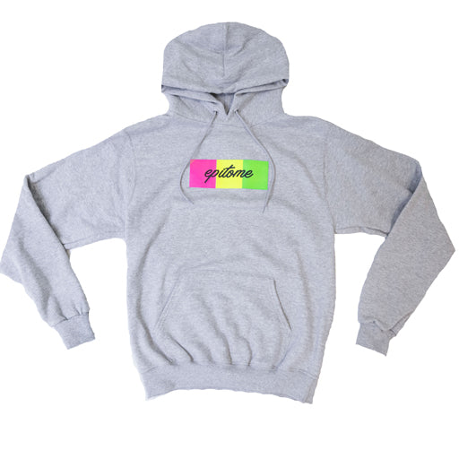 "EPITOME x CHAMIPON - ""1995"" RETRO CHAMPION HOODIE (GREY/ MULTI)"