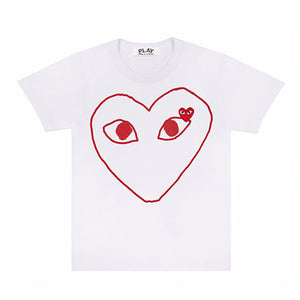 Comme des Garcons PLAY Outline Heart Tee