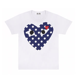 Comme des Garcons PLAY T-Shirt with Polka Dot Big Heart