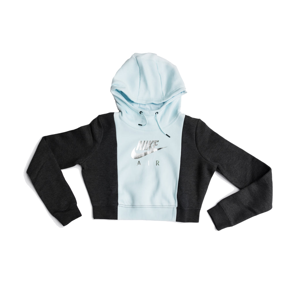 WMNS HOODED LONG SLEEVE TOP (GREY BLUE/BLK), PHONE ORDER ONLY