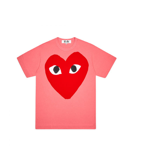 Comme des Garcons PLAY Pastelle Big Red Heart T Shirt