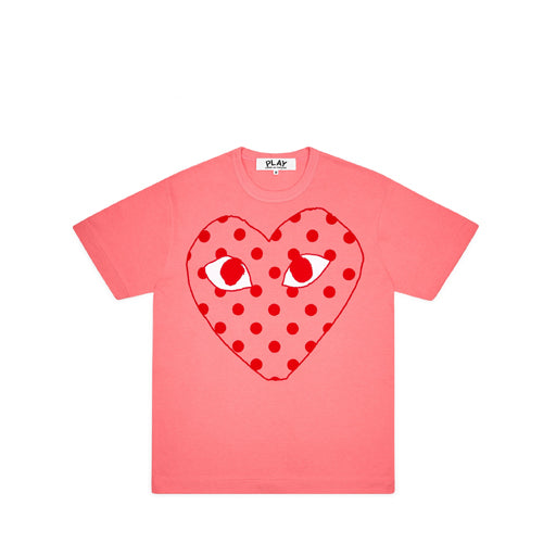 Comme des Garcons PLAY Polka Dot Heart Pastelle T Shirt