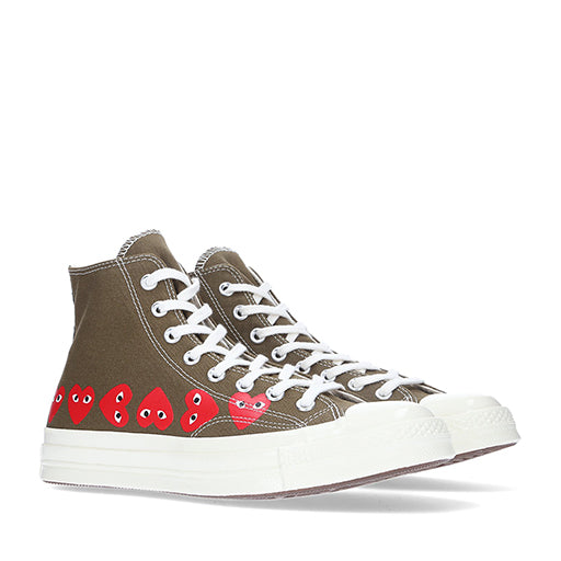 Comme des Garcons X Converse PLAY Multi Heart Chuck Taylor All Star '70 High Top