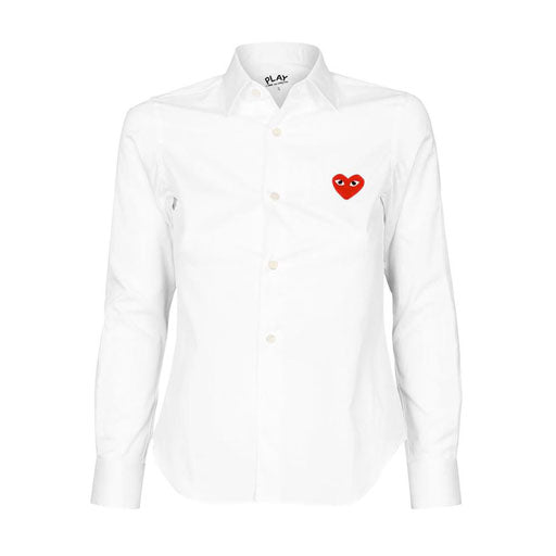 COMME DES GARCONS - PLAY RED HEART SHIRT (WHITE) MENS