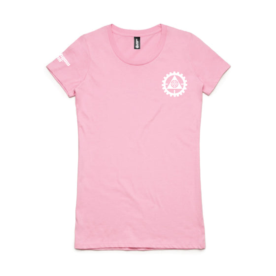 Lithgow Arms Branded Ladies Tee Candy Pink