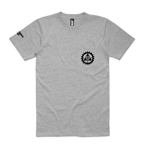 Lithgow Arms Branded Mens Pocket Grey Tee
