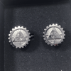 Lithgow Arms Cufflinks Nickel