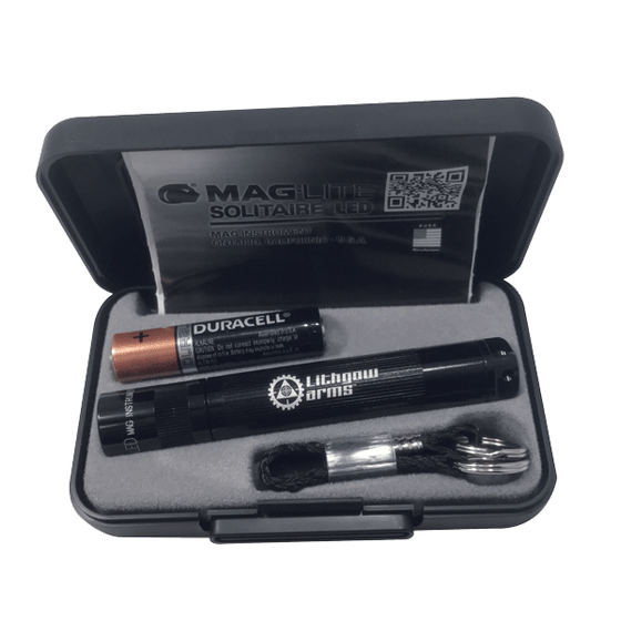 Maglite Solitaire Black LED Torch and Gift Box