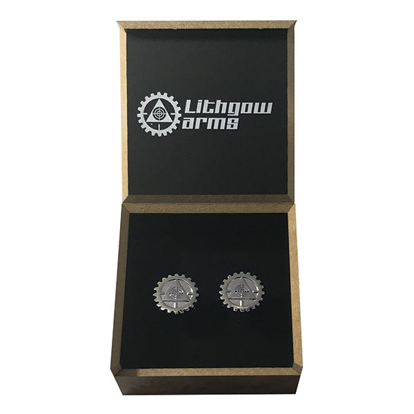Lithgow Arms Cufflinks Silver