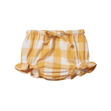 Nature Baby - Honey Check Petal Bloomers