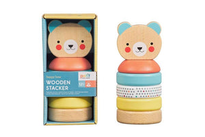 Petit Collage - Wooden Stacker - Bear
