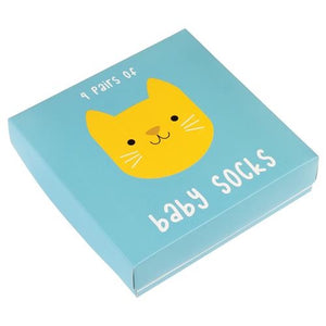 Rex London - Baby Socks Gift Pack  - Cat