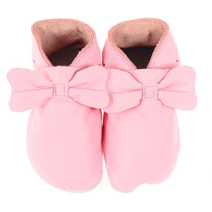 Pitter Patters Leather Bow /Pink