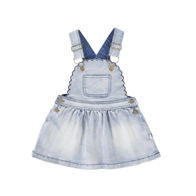 Peggy - Cleo Pinafore - Washed Denim