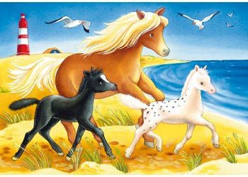 Ravensburger Puzzle 2x12pc Flowing Manes