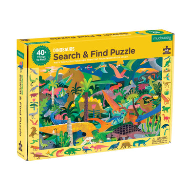 Mudpuppy - Search & Find Puzzle - Dinosaurs