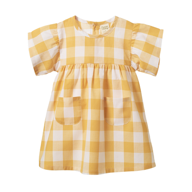 Nature Baby - Clememtine Dress - Navy Check
