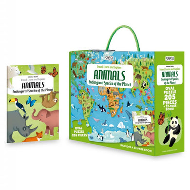 Sassi Science - Animals - Puzzle and Book