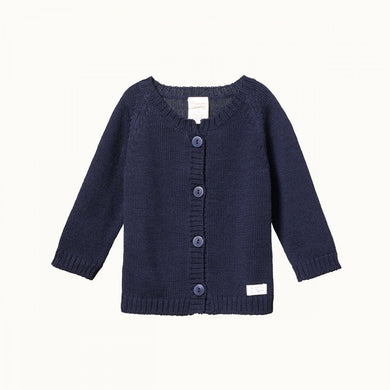 Nature Baby - Merino Knit Cardigan - Navy