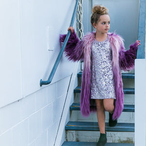 Lulu Stars - Penny Lane Sequin Dress - Violet Ice