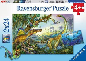 Ravensburger Puzzle 2x24pc Prehistoric Giants