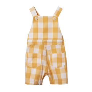Nature Baby - Honey Check Alex Overalls