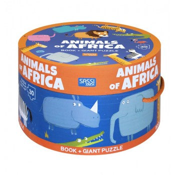 Sassi Science - Giant 30pc Puzzle and Book - Animals of Africa