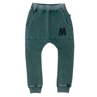Minti - Blasted Pouch Trackies - Jungle Wash
