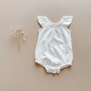 Two Darlings - Playsuit - Coconut Pointelle