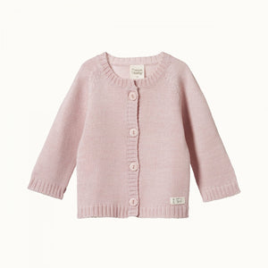 Nature Baby - Merino Knit Cardigan - Rose Bud