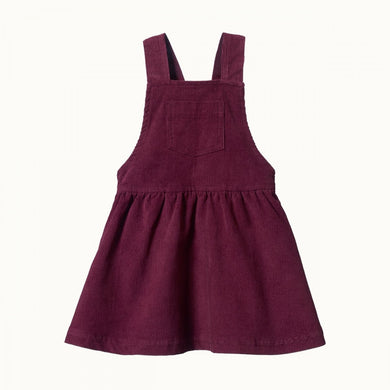 Nature Baby - Cord Pinafore Dress - Elderberry