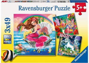 Ravensburger 3x49pc Mythical Creatures