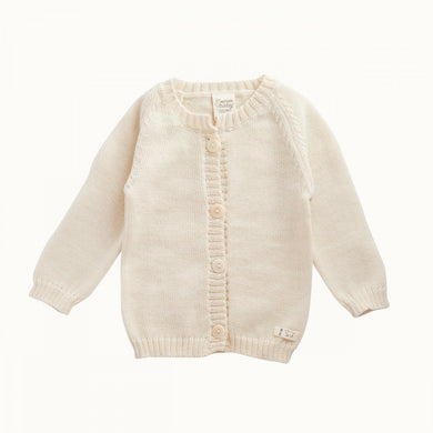 Nature Baby - Merino Knit Cardigan - Natural