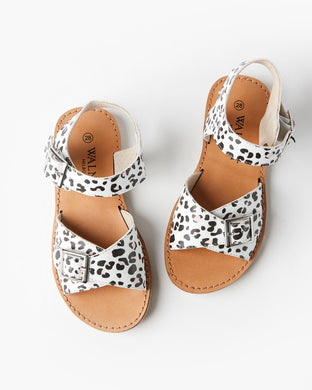 Walnut - Ryder Sandal - White Snow Leopard