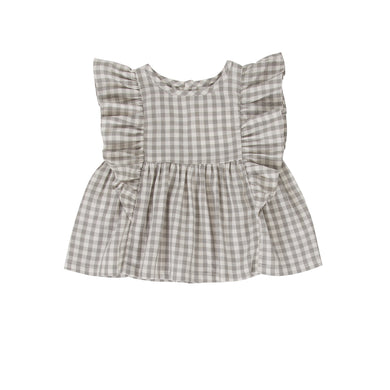 Peggy - Juniper Top/Dress - Green Gingham