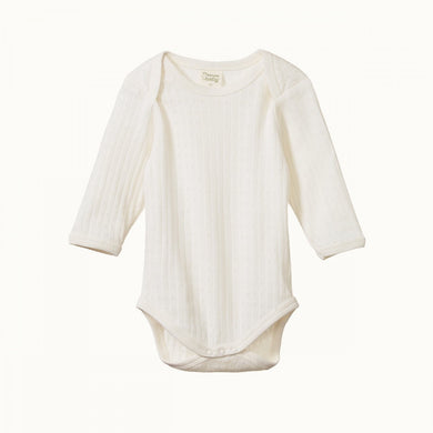Nature Baby - Pointelle - L/S Bodysuit - Natural
