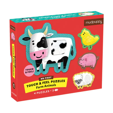 Mudpuppy - Touch & Feel Puzzle - Farm Animals