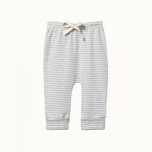 Nature Baby - Drawstring Pant - Grey Marl Stripe