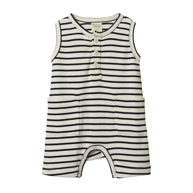 Nature Baby - Navy Sailor Stripe Camper Suit