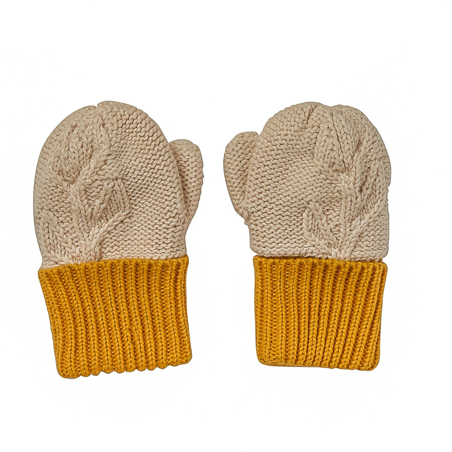 Acorn - Olive Branch Mittens - Oatmeal