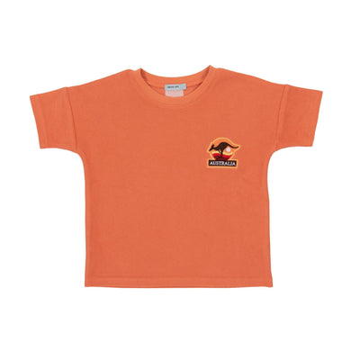 Goldie & Ace - Terry Towelling Tee - Flamingo