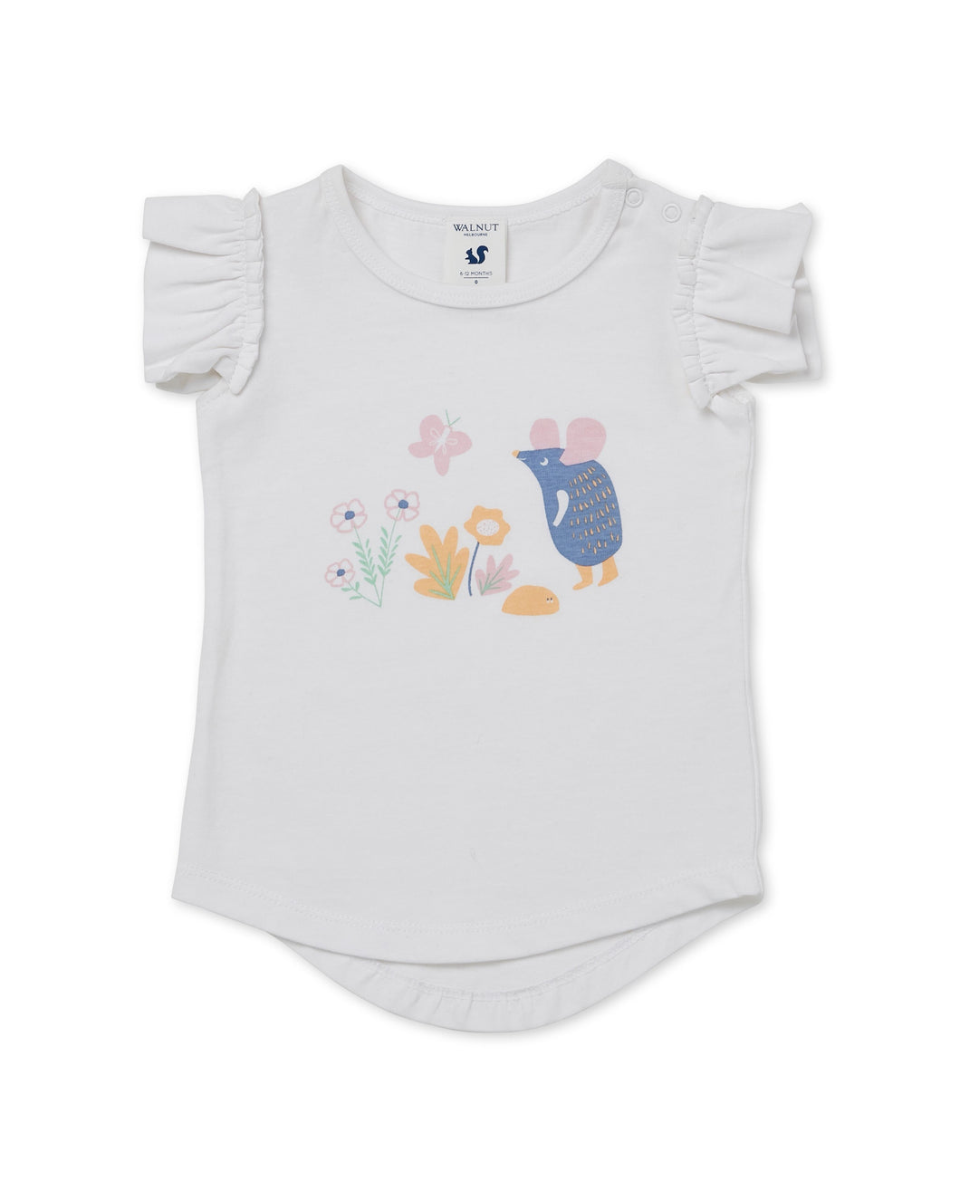 Walnut Baby - Frill Tee - Mosey Mouse